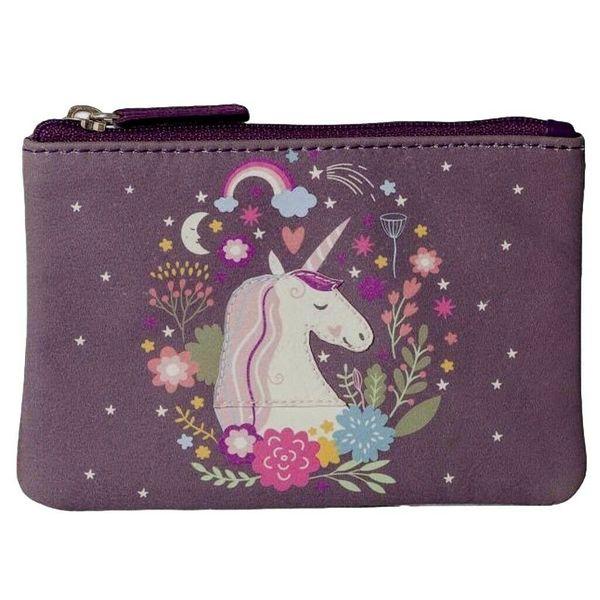 Square mala unicorn coin purse