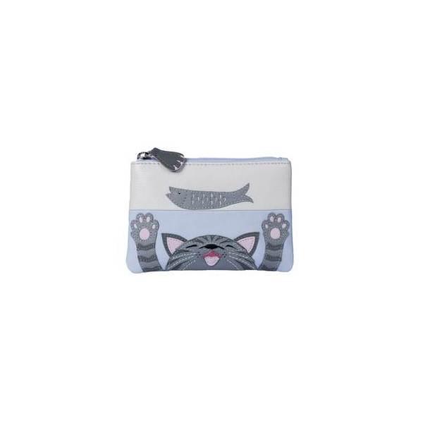 Square mala cat and fish purse