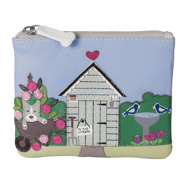 Square mala garden shed coin purse