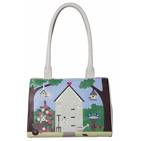 Square mala garden shed shoulder bag