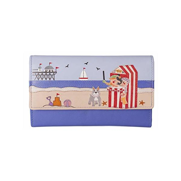 Square mala punch and judy trifold purse