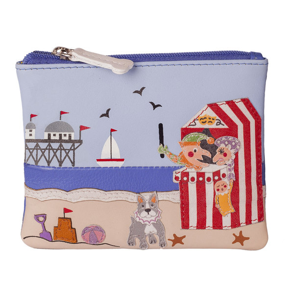 Square mala punch and judy coin purse