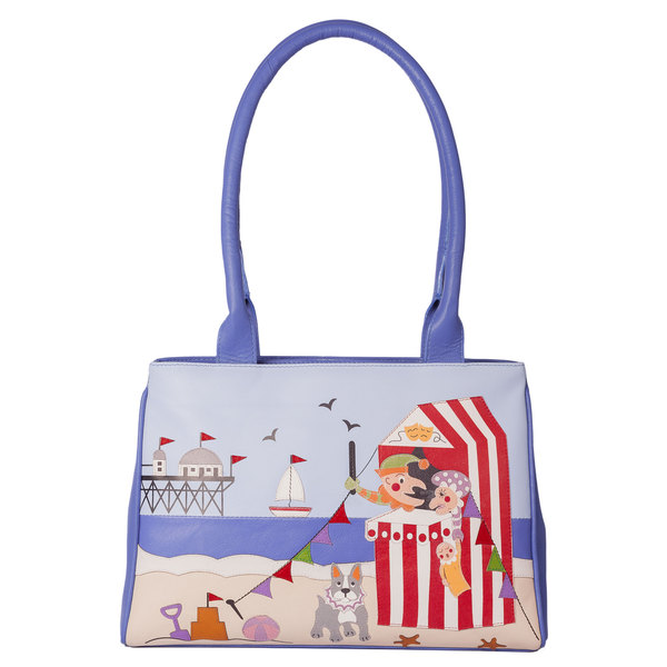 Square mala punch and judy shoulder bag