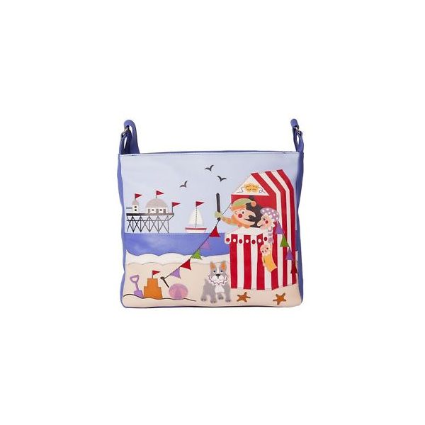 Square mala punch and judy cross body bag