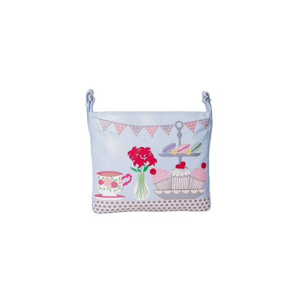 Square mala time for tea shoulder bag