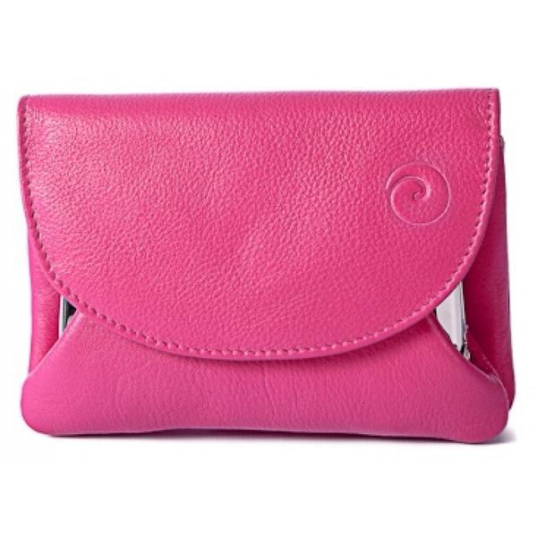 Square mala origin pink clasp purse