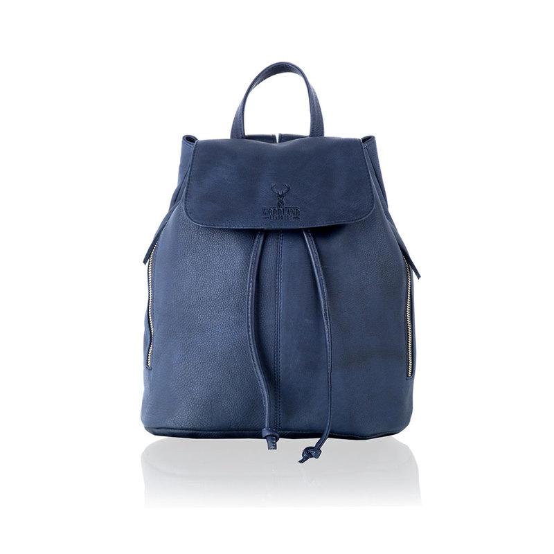 Woodland Leather Navy Medium Size Backpack