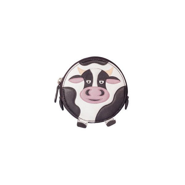 Square cow round purse   copy
