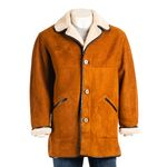 Mens 3/4 Traditional Shearling Sheepskin Coat