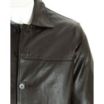 Men's Brown Classic Box Style Leather Jacket
