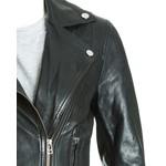 Women's Black Leather Biker Jacket