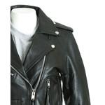 Women's Black Brando Classic Biker Style Jacket