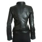 Women's Black Fitted Leather Biker Jacket