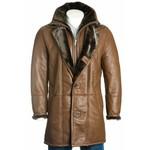 Men's Brown Sheepskin Shearling Coat