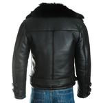 Men's Black Toscana Sheepskin Biker Jacket
