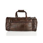 Woodland Leather Black Medium Size Travel Holdall With Adjustable Removable Shoulder Strap