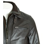 Men's Brown Buckled Strap Collar with Attachable Fleece Front