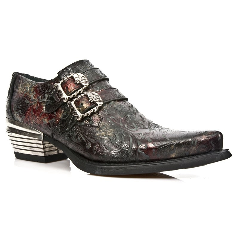 New Rock Leather Steel Ankle Boots