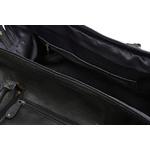 Woodland Leather Black Large Size Travel Holdall With Adjustable Shoulder Strap