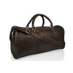 Woodland Leather Brown Large Size Travel Holdall With Adjustable Shoulder Strap