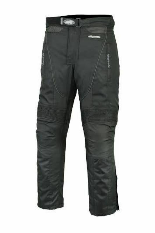 Men's Black Cordura Waterproof Motorbike Trousers