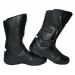 Men's Black Leather Armoured Touring Motorbike Boots