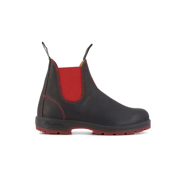 Square blundstone 1316 050 boots black red leather black 1