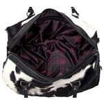 Black Cowhide Leather Holdall