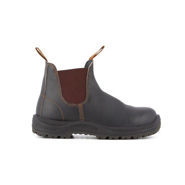 Square blundstone 192 080 steel toe boot premium brown 1