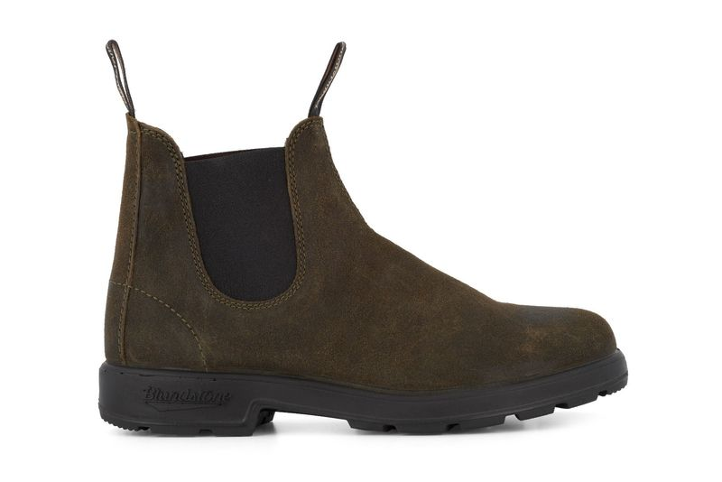 Blundstone Deep Olive Suede Chelsea Boot