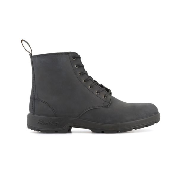 Square blundstone 1451 050 lace up nubuck boot nubuck  black 1