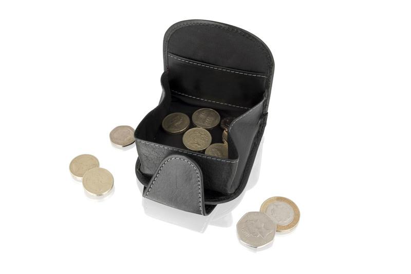 Black Expandable Coin Purse