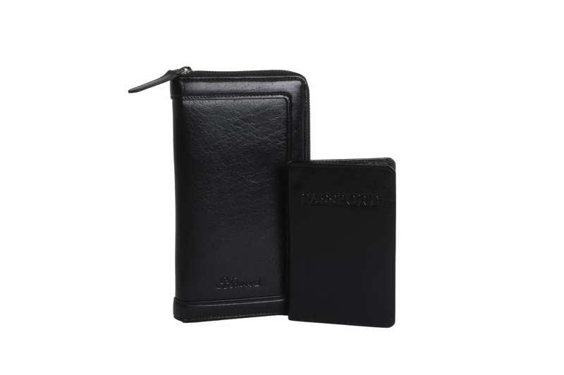 Men's Chestnut Leather Travel Wallet