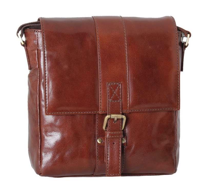 Chestnut Leather Flight Body Bag