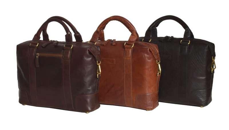 Vintage Style Honey Leather Laptop Bag