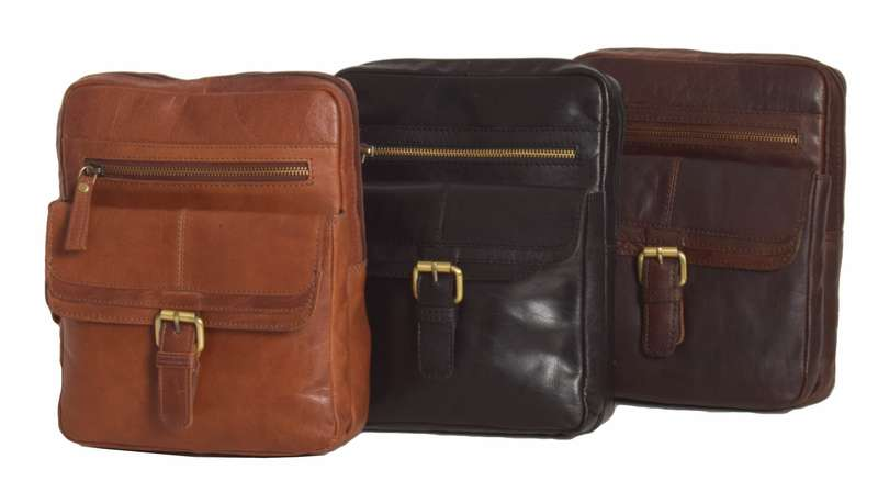 Unisex Honey Leather Cross Body Bag