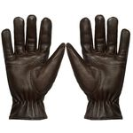 Men's Brown Leather Gloves
