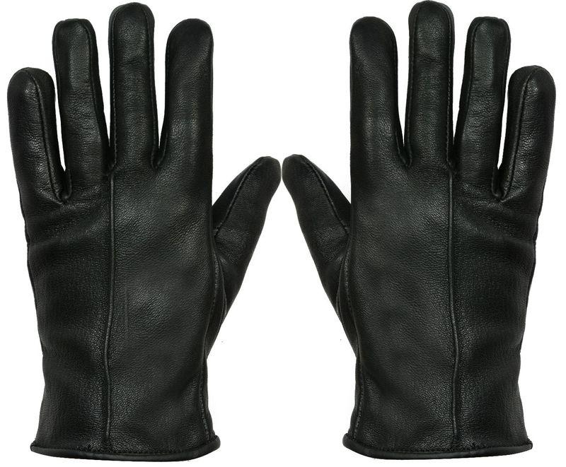 Ladies Black Leather Gloves