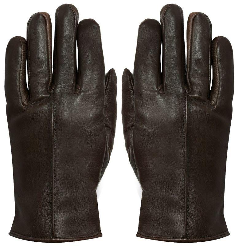 Ladies Brown Leather Gloves