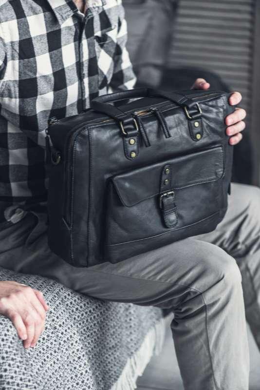Men's Navy Laptop Work Bag