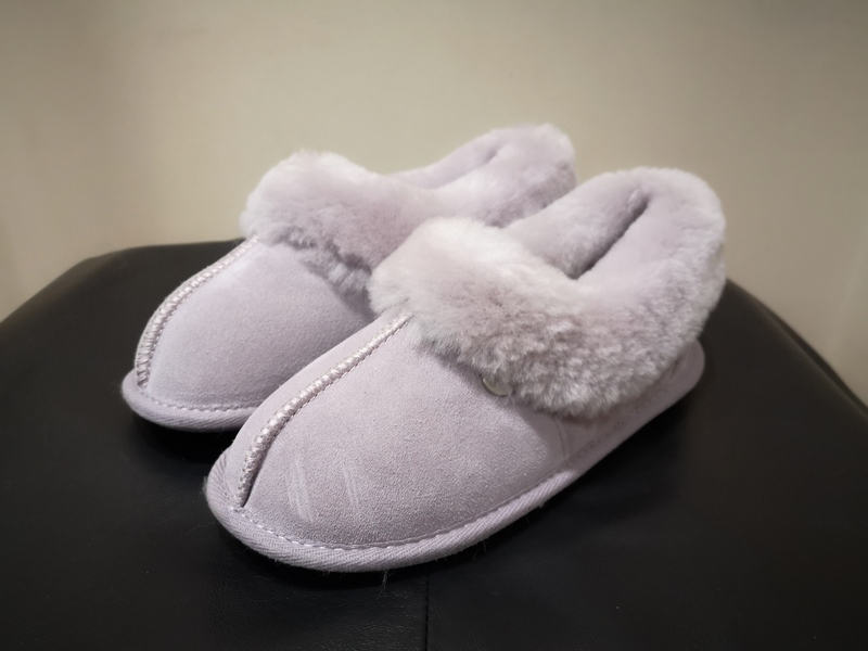 Ladies Heather Just Sheepskin Slippers
