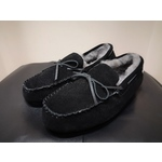 Men's Black And Grey Just Sheepskin Slippers