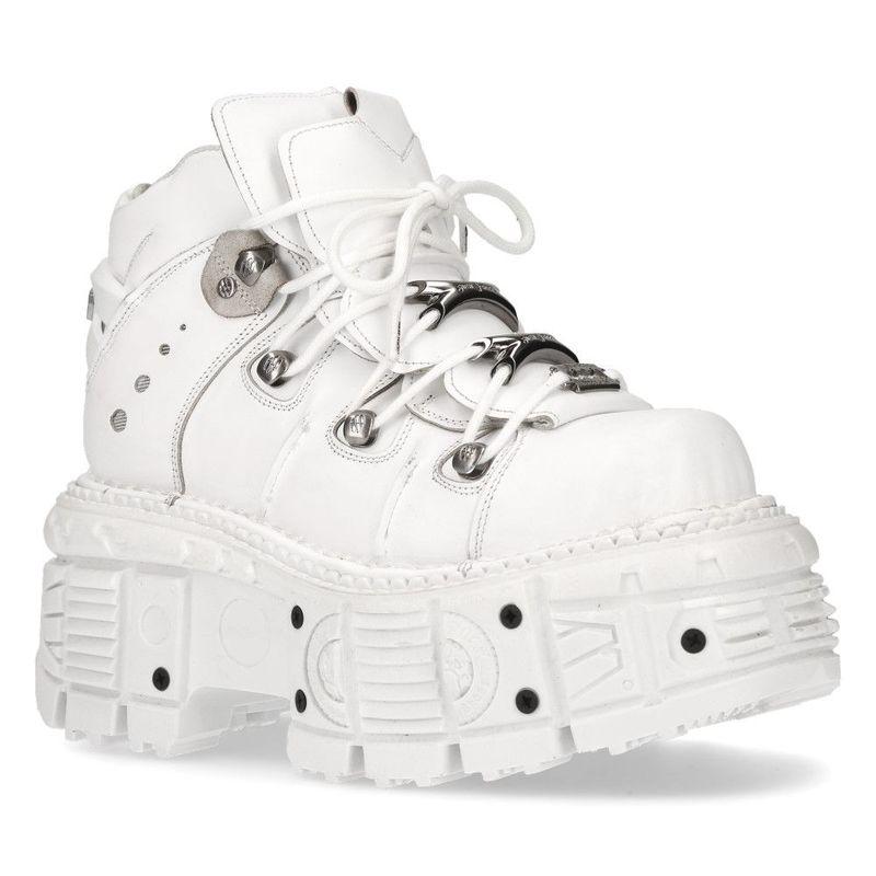 White Chunky Platform New Rock Boots