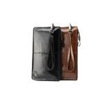 """Hautton 8.0"""" Leather Black Wrist Bag"""