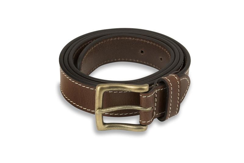 Men's Contrast Tan Stitch Detail Belt