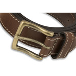 Men's Contrast Tan Stitch Detail Belt