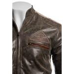 Men's Desert Tan Racing Biker Style Leather Jacket