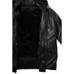 Men's Black Multi-Season Leather Coat